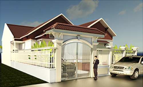 Thiết kế xây nhà cấp 4 mái thái 10,5x20m
