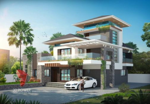 T ng h p 10 m u bi t th 3 t ng m i th i hi n i c ng for Award winning house designs in india