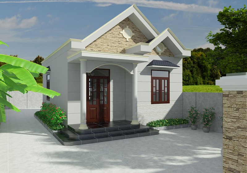 Thiết kế nhà cấp 4 kiểu Thái