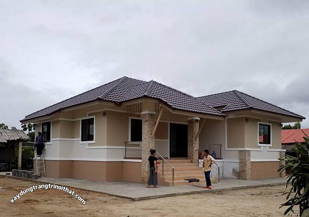 Mẫu Nhà Cấp 4 Mái Thái 140m² 3 Phòng Ngủ