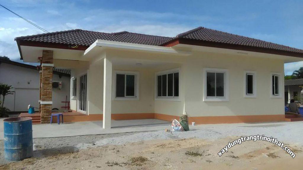 Mẫu Nhà Cấp 4 Mái Thái Diện Tích 90m² 3 Phòng Ngủ 2 Phòng Tắm