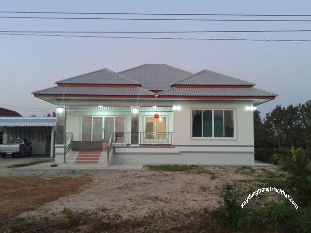 Mẫu Nhà Cấp 4 Mái Thái Với Phong Cách Đương Đại, 3 Phòng Ngủ, 153 Mét Vuông