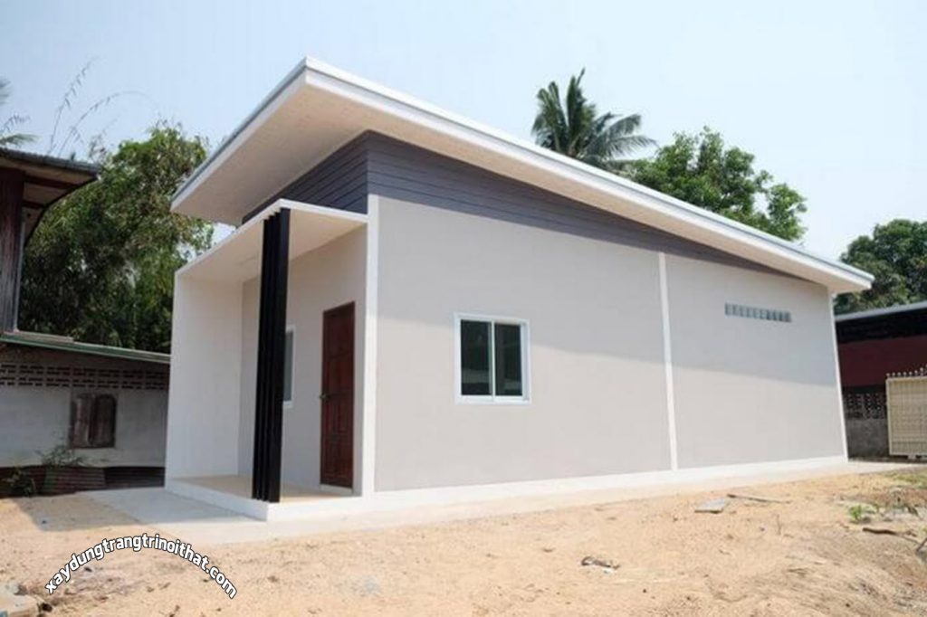 Mẫu nhà cấp 4 nhỏ gọn 41m² dành cho vợ chồng mới cưới