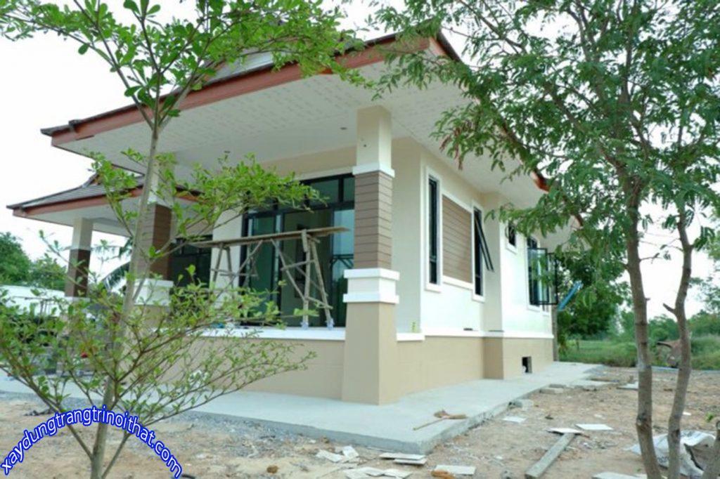 Mẫu Nhà Cấp 4 Mái Thái Phong Cách Đương Đại 3 Phòng Ngủ