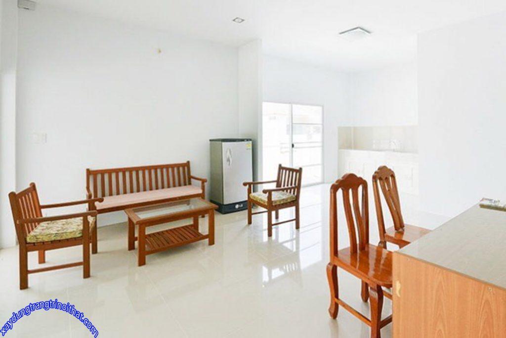 Mẫu Nhà Cấp 4 Mái Thái 2 Phòng Ngủ Phong Cách Hiện Đại