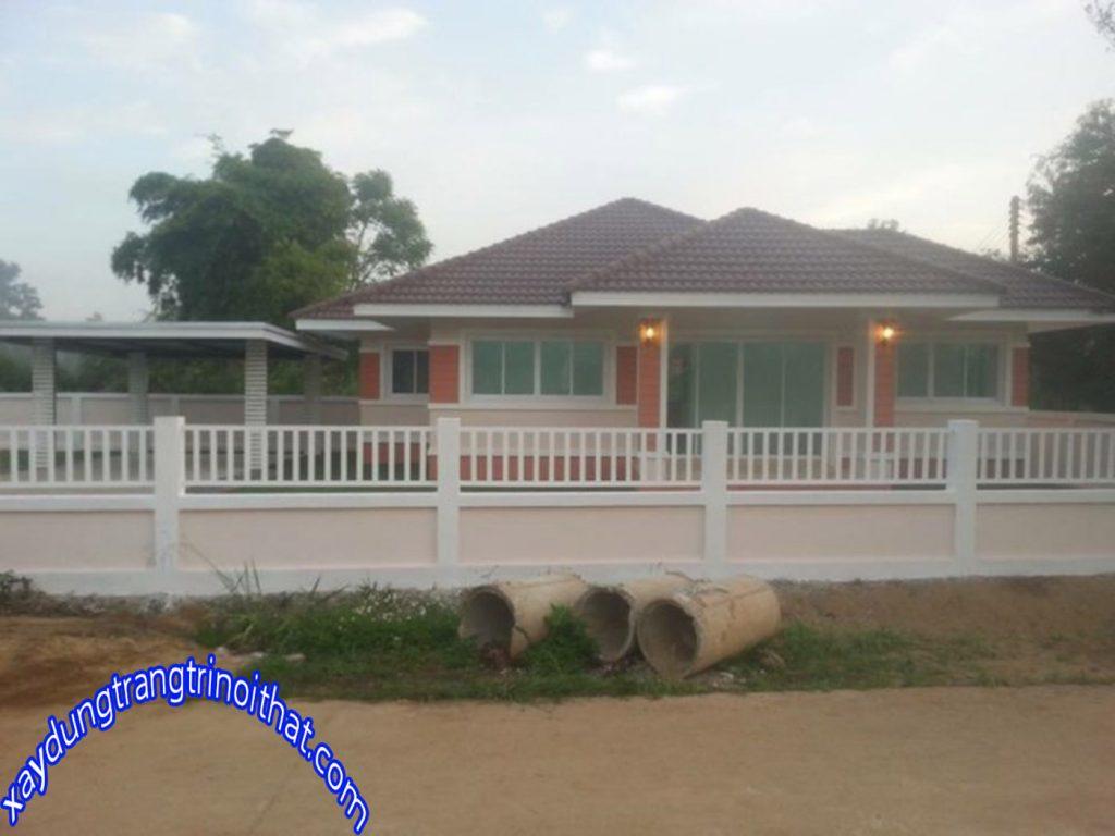 Mẫu Nhà Cấp 4 Mái Thái 2 Phòng Ngủ