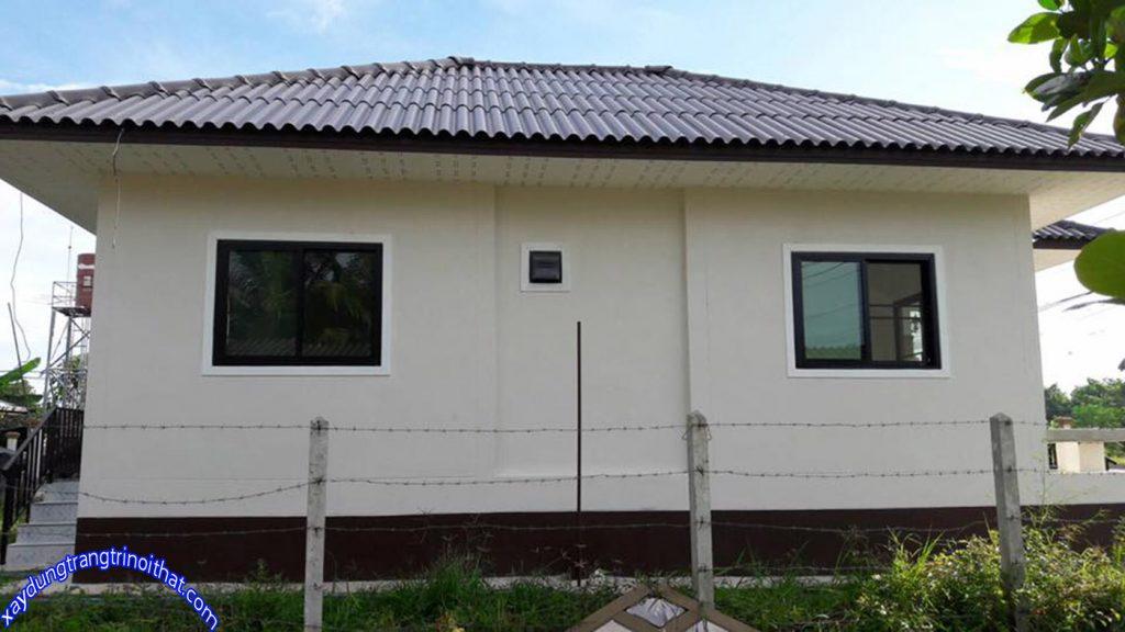 Mẫu Nhà Cấp 4 Mái Thái Nhỏ Gọn 2 Phòng Ngủ 1 Phòng Tắm