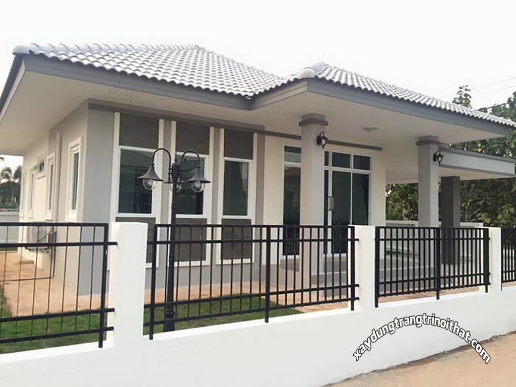 Mẫu Nhà Cấp 4 Mái Thái 3 Phòng Ngủ Phong Cách Đương Đại