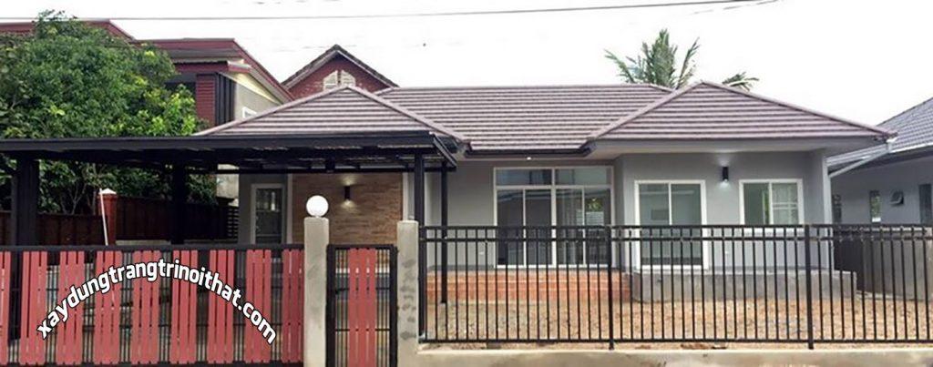 Mẫu Nhà Cấp 4 Mái Thái 130m² 2 Phòng Ngủ 2 Phòng Tắm