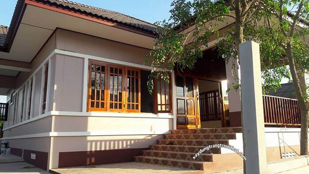 Mẫu Nhà Cấp 4 Mái Thái Diện Tích 180m² 3 Phòng Ngủ