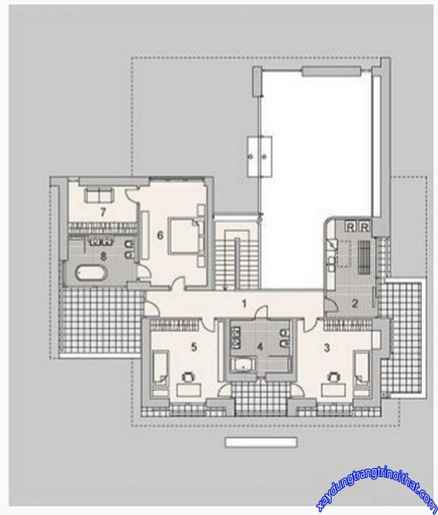 Mẫu Biệt Thự 2 Tầng Sang Trọng Lộng Lẫy
