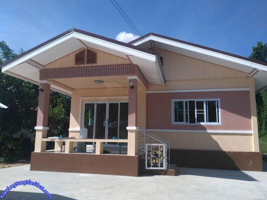 Mẫu Nhà Cấp 4 Mái Thái Hiện Đại 3 Phòng Ngủ 2 Phòng Tắm