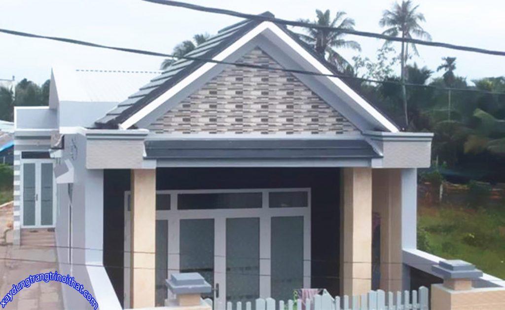 Mẫu Nhà Cấp 4 Mái Thái 2 Phòng Ngủ 1 Phòng Tắm