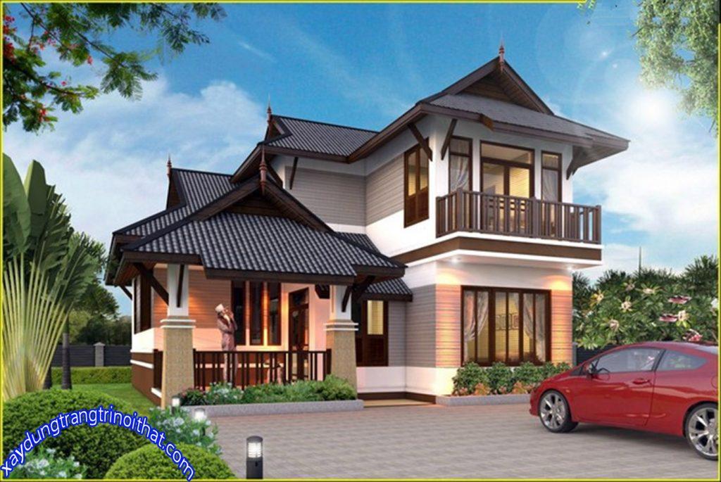 Mẫu Biệt Thự Mái Thái Với Phong Cách Đương Đại