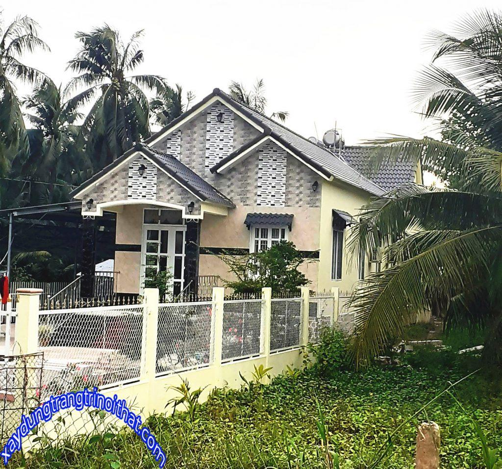 Mẫu Biệt Thự Mini Sân Vườn Đẹp Đơn Giản Ở Nông Thôn