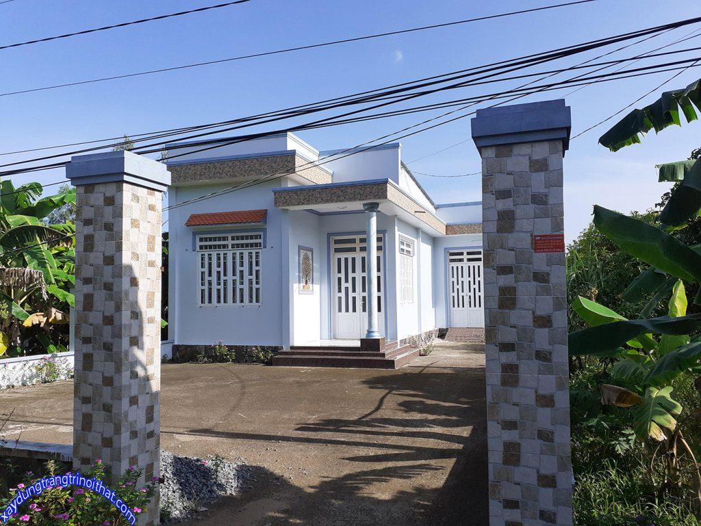 Mẫu Nhà Cấp 4 Mái Bằng Thiết Kế Đẹp Ở Vùng Nông Thôn
